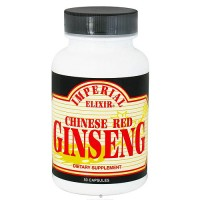 Imperial Elixir Chinese Red ginseng capsules - 50 ea