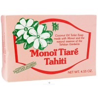 Monoi Tiare Tahiti coconut oil toilet soap with tahitian jasmine - 4.6 oz