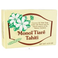 Monoi Tiare Tahiti coconut oil toilet soap with sandalwood - 4.6 oz