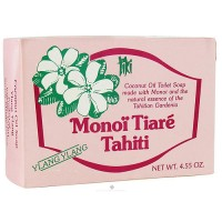 Monoi Tiare Tahiti coconut oil toilet soap with ylang ylang - 4.6 oz