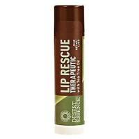 Desert essence lip rescue therapeutic with tea tree oil - 0.15 oz