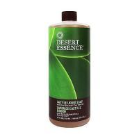 Desert Essence castile liquid soap with eco-harvest tea tree oil, 32 oz