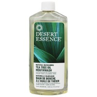 Desert Essence natural refreshing tea tree oil mouthwash - 16 oz