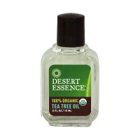 Desert Essence 100% organic tea tree oil, 0.5 oz