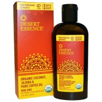 Desert essence organic coconut with jojoba and coffee oil - 4 oz
