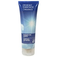 Desert Essence Organics fragrance free hair shampoo, pure - 8 oz