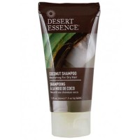 Desert essence coconut shampoo nourishing for dry hair - 1.5 oz