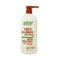 Alba Botanica natural very emollient body lotion daily shade SPF 15 - 32 oz