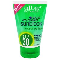 Alba Botanica Natural Mineral Protection Sun block SPF 30 - 4 oz