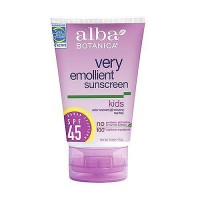 Alba Botanica very emollient sunscreen with SPF 45 for kids - 4 oz