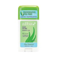 Alba Botanica clear enzyme deodorant stick, Aloe Unscented - 2 oz
