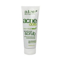 Alba Botanica Natural Acnedote maximum strength face and body scrub - 8 oz