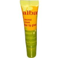 Alba Botanica clear lip gloss, coconut cream - 0.42 oz