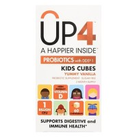 UP4 Probiotics with DDS1 Kids Cubes Chewables,Vanilla, 60 ea