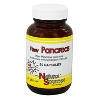 Natural Sources Raw Pancreas Capsules - 50 ea