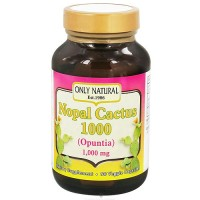 Only Natural Nopal Cactus 1,000 Vegetarian Capsules - 90 ea
