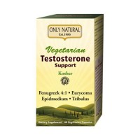 Only natural testosterone support vegetarian vegetarian capsules - 60 ea