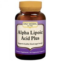Only Natural Alpha Lipoic Acid Plus Capsules, 200 mg - 60 ea
