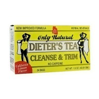 Only Natural Dieters Cleanse and Trim Tea bags, Lemon - 24 ea