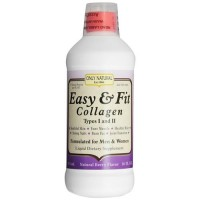 Only Natural Easy and Fit Collagen Types I and II Liquid For Men and Women - 16 oz