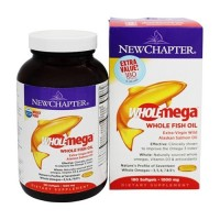 New Chapter WholeMega Whole Fish Oil 1000 mg  -  180 Softgels