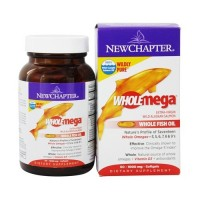 New chapter, wholemega, extra virgin wild alaskan salmon, whole fish oil, 1000 mg  -  60 ea