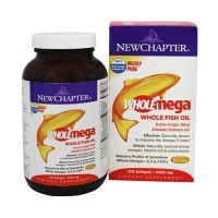 New chapter, wholemega, extra virgin wild alaskan salmon, whole fish oil, 1000 mg  -  120 ea