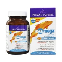 New Chapter, Wholemega, Extra Virgin Wild Alaskan Salmon, 500 mg - 90 ea