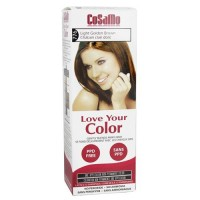 Cosamo love your color non-permanent hair color 776, Light golden brown - 3 oz