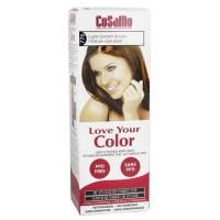 Cosamo love your color non-permanent hair color 776, Light golden brown - 3 oz