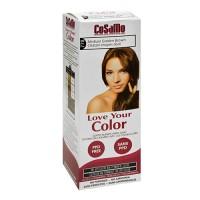 Cosamo love your color non-permanent hair color 778, Medium golden brown - 3 oz