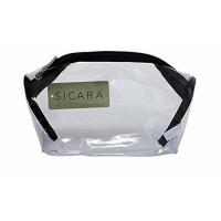 Sicara clear bottom purse cosmetic bags - 3 ea