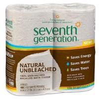 Seventh generation unbleached bath tissue recycled bath tissue - 4 rolls, 12 pack