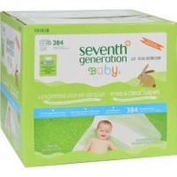Seventh generation baby wipes free and clear multipack wipes - 64 ea