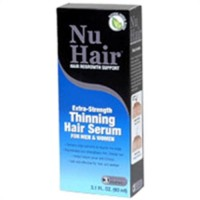 NuHair extra strength topical formula thinning hair serum for men and women - 3 oz