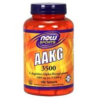 Nowfoods l arginine alpha ketoglutarate 3500mg dietry supplements, Tablets - 180 ea