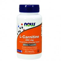 Nowfoods l-carnitine 250mg dietry supplements, Capsules - 60 ea