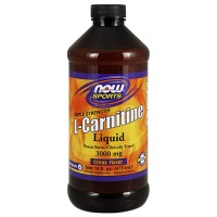 Nowfoods l-carnitine 3000mg dietry supplements, Liquid cituras flavor - 16 oz