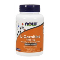 Nowfoods l-carnitine 1000mg dietry supplements, Tablets - 50 ea