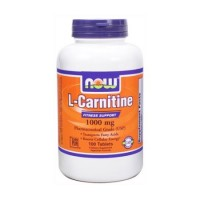 Nowfoods l-carnitine 1000mg dietry supplements, Tablets - 100 ea