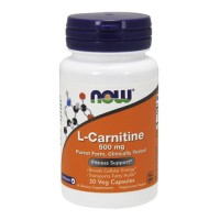 Nowfoods l-carnitine 500mg dietry supplements, Veg capsules - 30 ea
