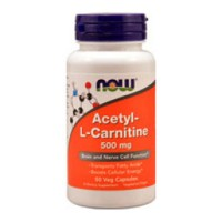 Nowfoods acetyl l-carnitine 500mg dietry supplements, Veg capsules - 50 ea