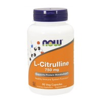 Nowfoods l-citurlline 750mg dietry supplements, Veg caosules - 90 ea