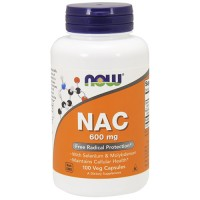 Nowfoods nac 600mg dietry supplements, Veg capsules - 100 ea