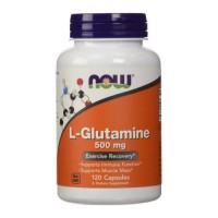 Nowfoods l-glutamine 500mg dietry supplements, Capsules - 120 ea