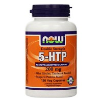 Nowfoods double strenth 5-htp 200mg dietry supplements, Veg capsules - 60 ea