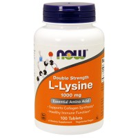 Nowfoods double strength L Lysine 1000 mg tablets - 100 ea
