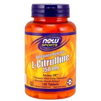 Now foods, l-citrulline, sustained release, 750 mg, tablets - 120 ea