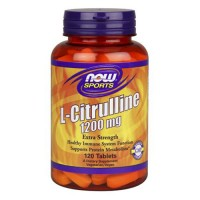 Nowfoods extra strenth l-citrulline 1200mg dietry supplements, Tablets - 120 ea