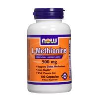 Nowfoods l-methionine 500mg dietry supplements, Capsules - 100 ea